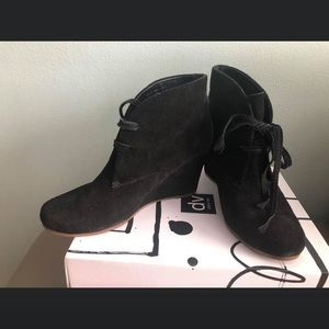 Pre- owned DOLCE VITA  wedge booties. Size 9.
